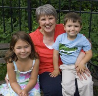 Sandra Masin with her grandchildren